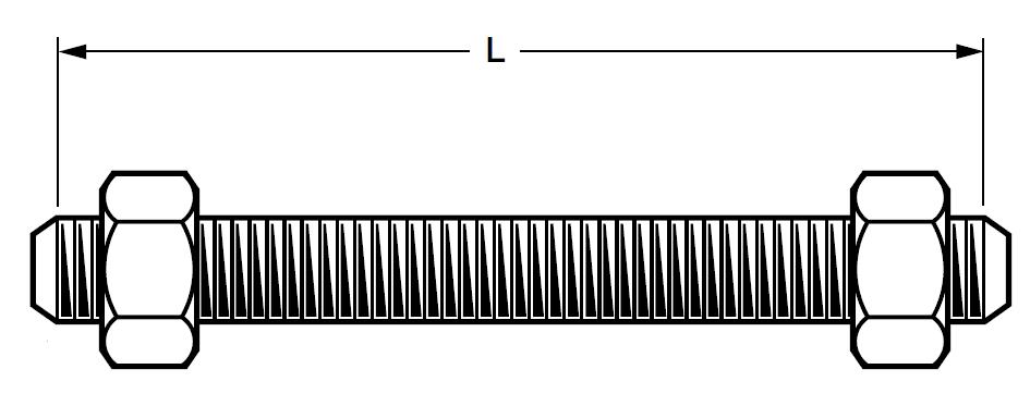 Stud Bolt Dimensions For Asme B16 5 Class 300 Rf Flanges